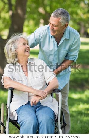 Stockfoto: Gehandicapten · senior · man · naar