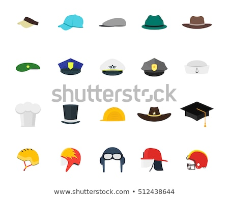 Cartoon бизнесмен ковбойской шляпе черно белые иллюстрация Сток-фото © bennerdesign