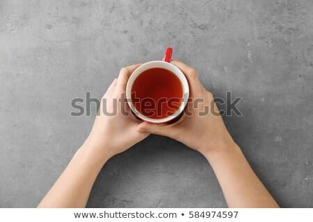 kezek · karácsony · díszítések · felső · kilátás · női - stock fotó © pressmaster
