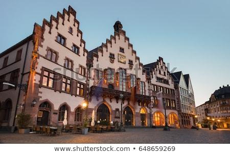 Historisch oude binnenstad hal Frankfurt stad gebouwen Stockfoto © manfredxy