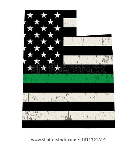 ユタ州 軍事 サポート アメリカンフラグ 実例 ストックフォト © enterlinedesign