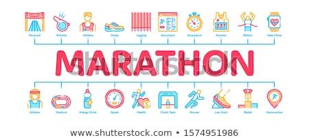 マラソン インフォグラフィック バナー ベクトル ウェブ ストックフォト © pikepicture