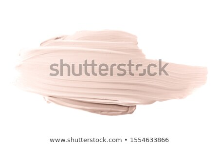 Stock photo: Make-up pale base foundation brush strokes and smudge texture
