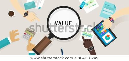 прибыльный ценообразование стратегия вектора метафора цен Сток-фото © RAStudio