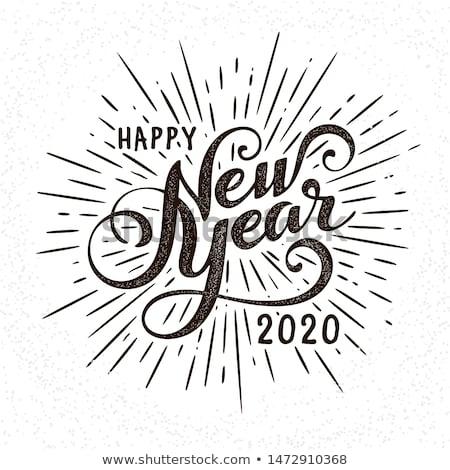 Gelukkig nieuwjaar illustratie typografie aantal kleurrijk Stockfoto © articular