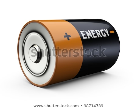 Single battery with positive and negative sign Stock photo © bluering