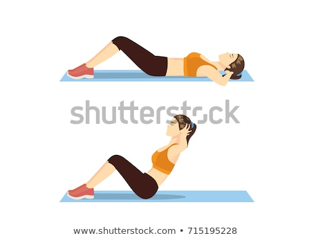 Doing Sit-Ups Abdominal Crunch Stock photo © Jasminko