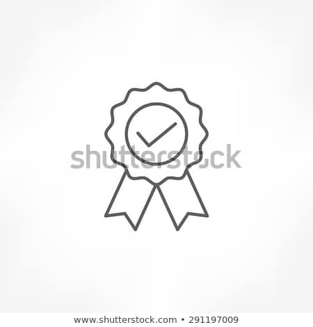 Prestatie medaille icon vector schets illustratie Stockfoto © pikepicture