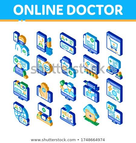 онлайн врач совет изометрический вектора Сток-фото © pikepicture