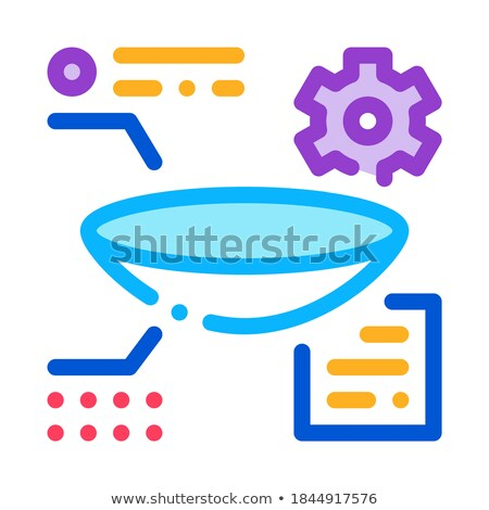 parsing lens research icon vector outline illustration Stock photo © pikepicture