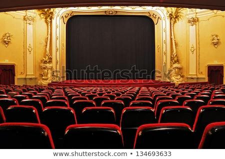 Groot kroonluchter theater mooie lobby bed Stockfoto © ruslanshramko
