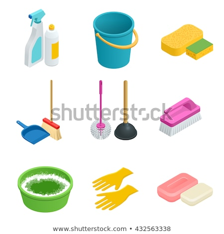 Wasserij dienst wassen vloeibare fles isometrische Stockfoto © pikepicture