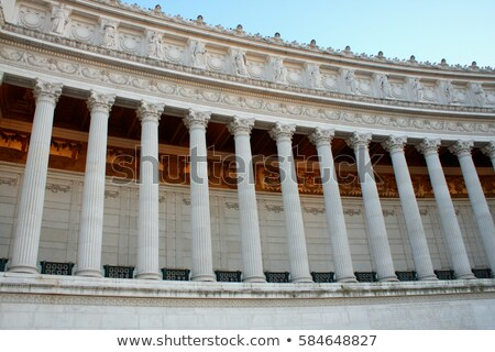 details of large column, Vittorio Emanuele, Rome, Italy Stock photo © vladacanon