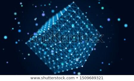 Abstract kubus chaos illustratie gekleurd Stockfoto © limbi007