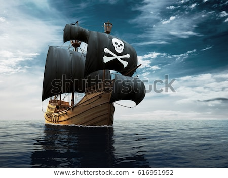 Pirate ship at sunset Stock photo © jsnover