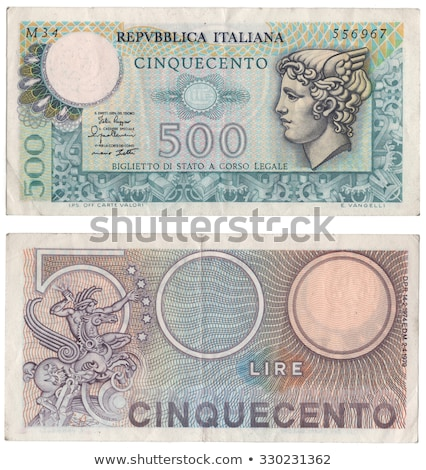 Italian 500 Lire Coin Stock Photo Claudio Divizia Claudiodivizia
