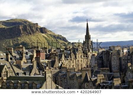 旧市街 エディンバラ スコットランド 草 建物 山 ストックフォト © Hofmeester