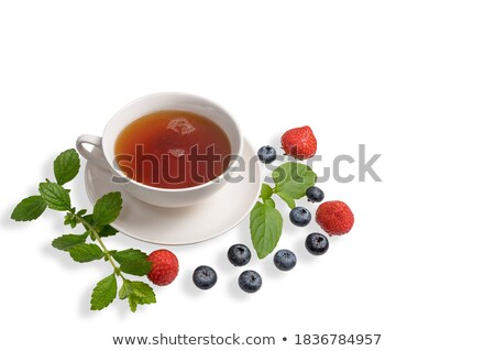 Strawberries on green chinese saucer Stock photo © RuslanOmega