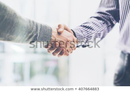 Handdruk witte business handen hand Stockfoto © adamr
