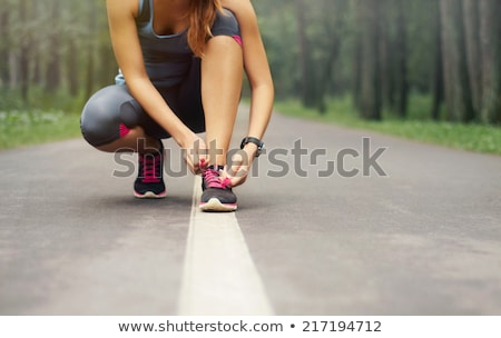 Woman exercising in forest Stock photo © blasbike