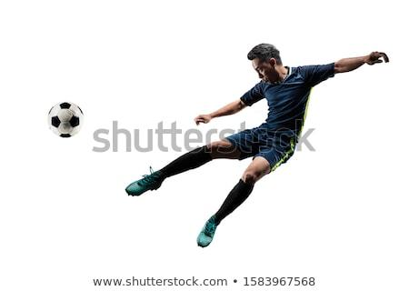 Akrobatikus labdarúgó rúg labda pozició fű Stock fotó © RazvanPhotography