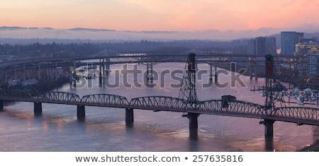 туманный моста день мнение небе Сток-фото © bobkeenan