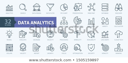 Flow Chart with gears and graph Stock photo © 4designersart