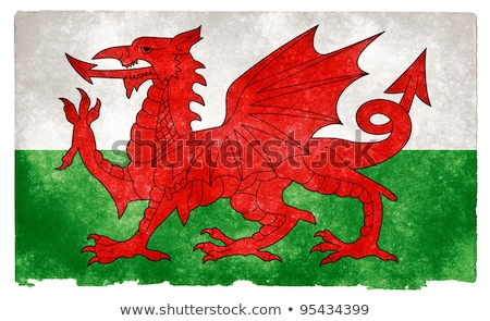 Гранж флаг Уэльс старые Vintage гранж текстур Сток-фото © HypnoCreative