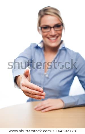 Işkadını teklif el toplantı teknoloji el sıkışma Stok fotoğraf © photography33