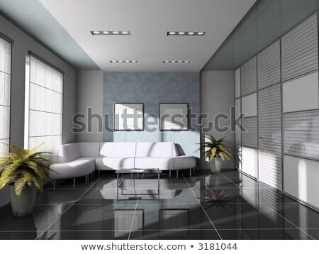 Stockfoto: Kantoor · wachtkamer · tekening · 3D · afbeelding · ontwerp