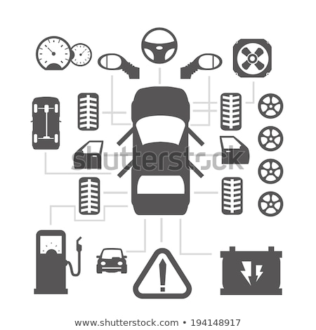 Cars icons set part 2 Stock photo © lkeskinen