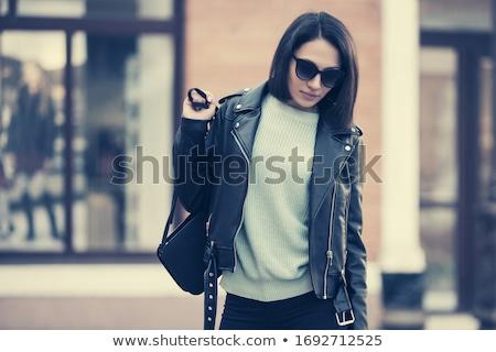 брюнетка сцепления портрет красивой молодые Сток-фото © zastavkin
