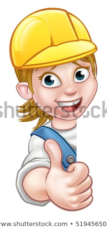 Stock photo: female carpenter giving thumbs up
