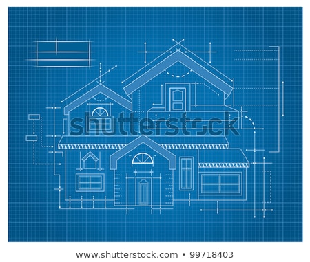 Huis blauwdrukken woon- home handgemaakt model Stockfoto © cmcderm1