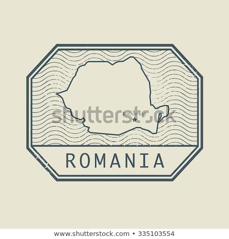 румынский пост штампа Румыния напечатанный искусства Сток-фото © Taigi