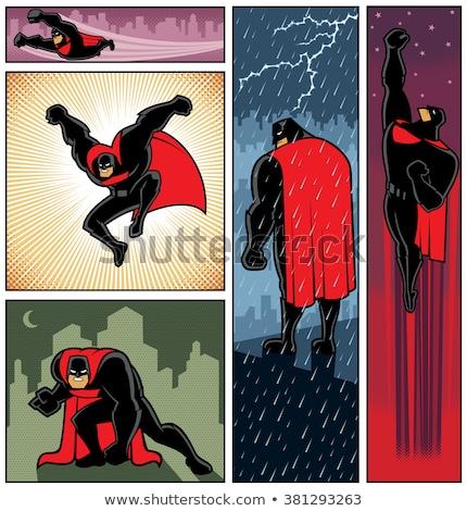 иллюстрация смешные Cartoon комического superhero характер Сток-фото © benchart