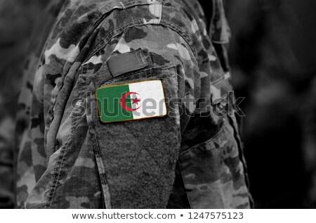 Exército Argélia quadro guerra serviço silhueta Foto stock © perysty