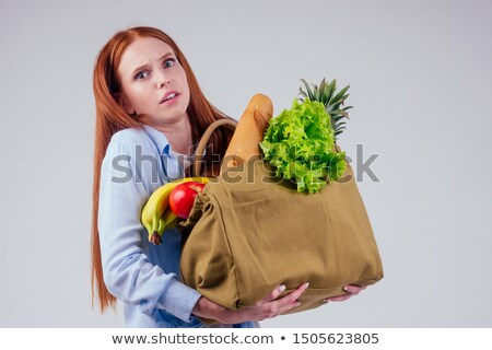 Woman holding fresh pineapple Stock photo © photography33