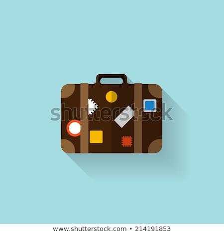 Viajar caso destino membro vermelho amarelo Foto stock © luapvision