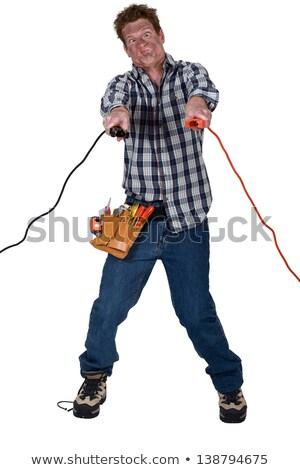 Elektromos rázkódás munka fény doboz kábel Stock fotó © photography33