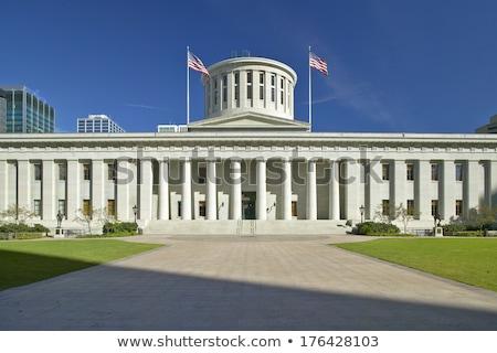 Ohio épület éjszaka kék építészet erő Stock fotó © benkrut