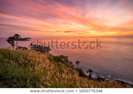 Phuket crepúsculo Tailândia pôr do sol abstrato natureza Foto stock © posterize