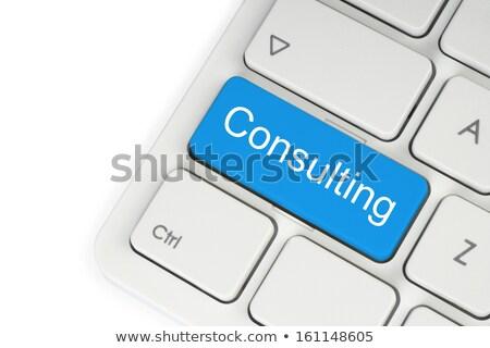 üzlet · tanácsadó · numerikus · billentyűzet · írott · kék · modern - stock fotó © fotoscool