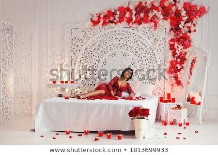 red negligee Stock photo © carlodapino