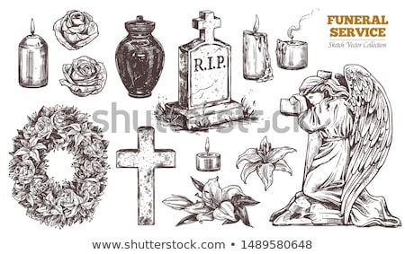 schemering · kruis · heuvel · laatste · licht · jesus - stockfoto © zittto