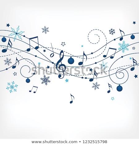 冬 音楽 カード パーティ 光 デザイン ストックフォト © carodi