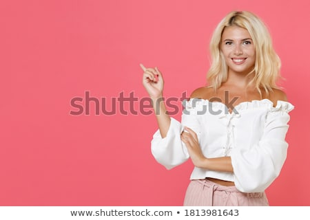 portrait of a cheerful attractive blonde stock photo © acidgrey