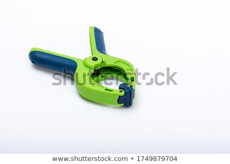plastic clamp isolated on white Stock photo © shutswis