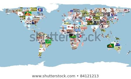 Ocio deporte mapa del mundo playa mapa Foto stock © wavebreak_media
