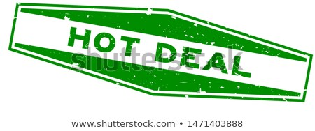 save money in green hexagon banner Stock photo © marinini